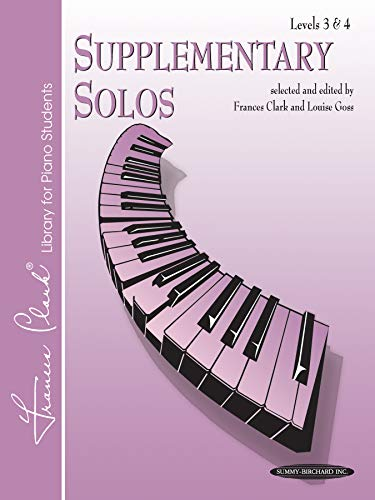 9780874871401: Supplementary Solos: Levels 3 & 4 (Frances Clark Library Supplement)