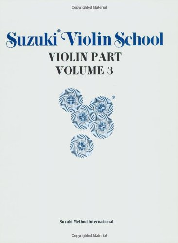 9780874871487: Suzuki Violin School, Vol 3: Violin Part: 003