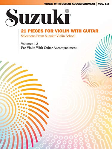 9780874872958: 21 Pieces for Violin with Guitar: Selections from Suzuki Violin School Volumes 1, 2 and 3 for Violin with Guitar Accompaniment