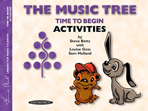 9780874879537: The Music Tree Activities Book: Time to Begin (Frances Clark Library for Piano Students)