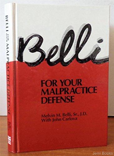 Belli For Your Malpractice Defense: Melvin M. Belli