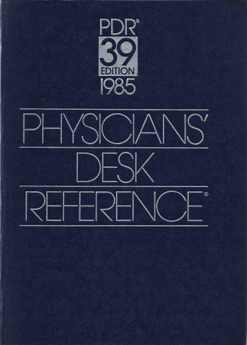 9780874898781: Physician's Desk Reference to Pharmaceutical Specialties and Biologicals