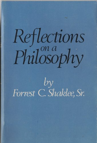 9780875020372: Reflections on a philosophy,