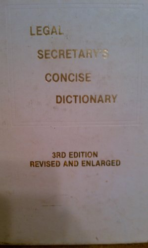 9780875117393: Legal Secretary's Concise Dictionary