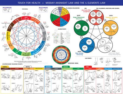 9780875167725: Touch for Health Midday / Midnight 5 Elements Chart