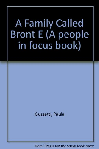 9780875185927: A Family Called Bronte (People in Focus)