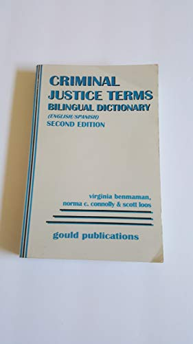 9780875263793: Bilingual Dictionary of Criminal Justice Terms: English/Spanish
