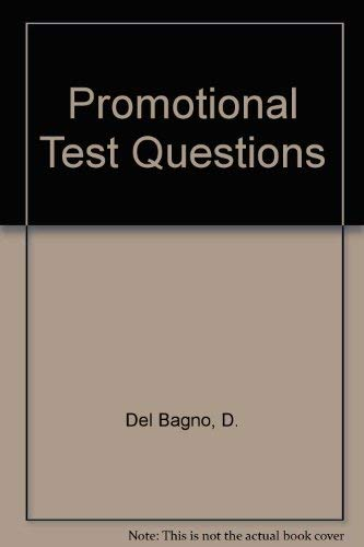 9780875263816: Promotional Test Questions
