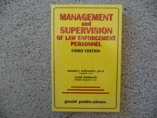 9780875264288: Management and Supervision of Law Enforcement Personnel