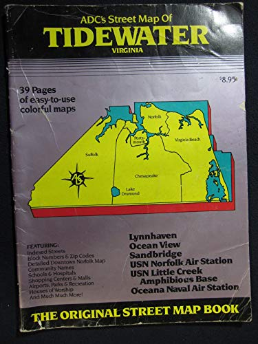 9780875300153: Tidewater Virginia Street Map