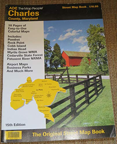 9780875300474: Charles County, Maryland Street Map Book