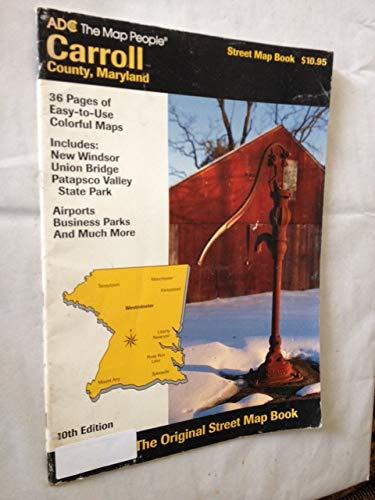 9780875300498: Carroll County, Maryland Street Map Book