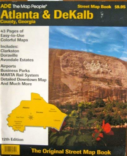 9780875301303: Atlanta & Dekalb County, Georgia Street Map Book