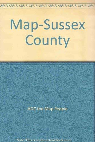 Map-Sussex County (9780875301730) by ADC the Map People
