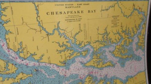 9780875301907: Chesapeake Bay, MD Laminated Map