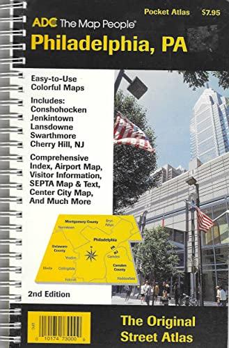 Philadelphia, Pa, Pocket Atlas: Includes Conshohocken, Jenkintown,: ADC the Map