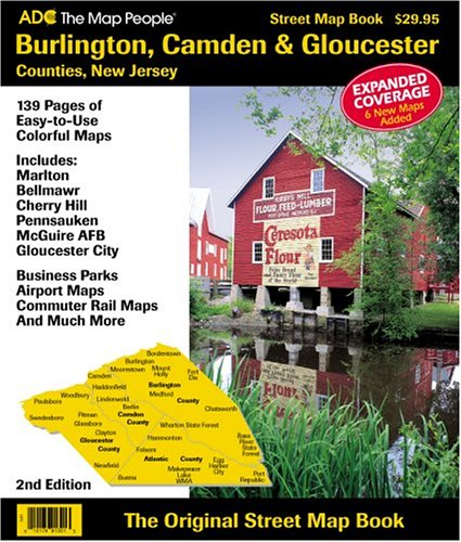 9780875303123: Burlington, Camden & Gloucester Counties, New Jersey: Street Map Book