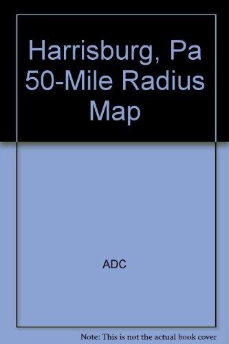 9780875303253: Harrisburg, Pa 50-Mile Radius Map