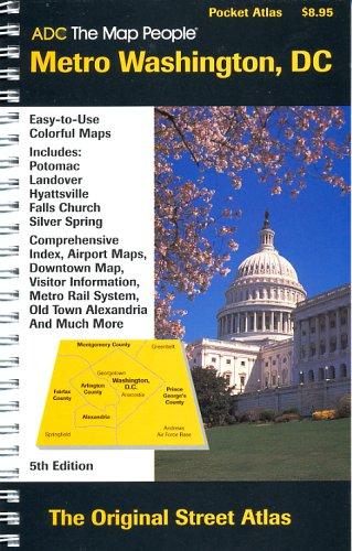 ADC the Map People Metro Washington DC Pocket Atlas Laminated