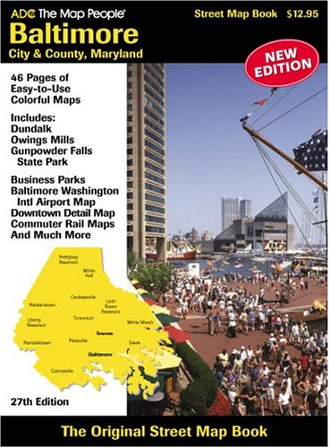 Baltimore City & County, Maryland Map:: ADC the Map People