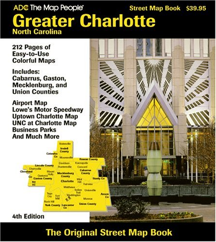 9780875306094: ADC the Map People Charlotte, North Carolina Street Map Book