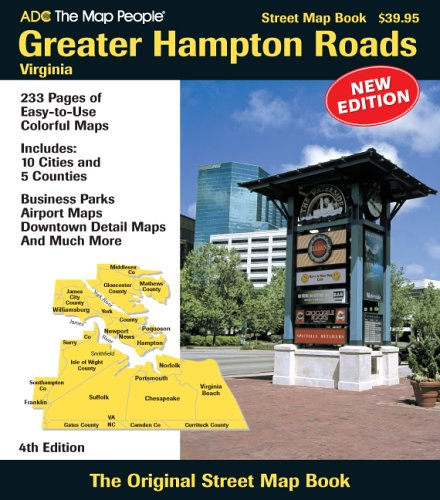 9780875306896: ADC the Map People Greater Hampton Roads Virginia: Street Map Book