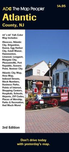 9780875307633: Atlantic County, New Jersey Pocket Map