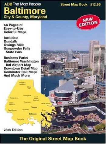 Baltimore City & County, Maryland (Street Map Books)