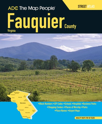 9780875308296: ADC the Map People Fauquier County, Virginia Street Map Book