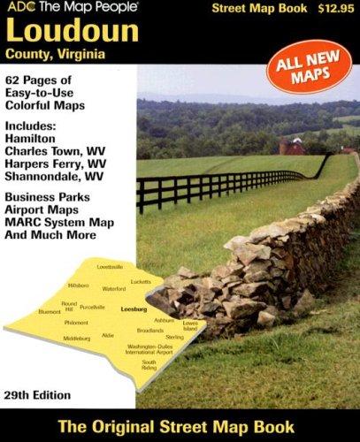 9780875308319: ADC the Map People Loudoun County, Virgina Street Map Book (Loudoun County VA Atlas)