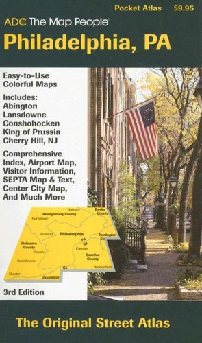 9780875308449: ADC The Map People Philadelphia, PA (Adc the Map People Philadelphia Pa Street Map Book)
