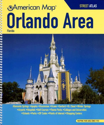 9780875308791: Orlando, Florida Area Street Atlas (American Map)
