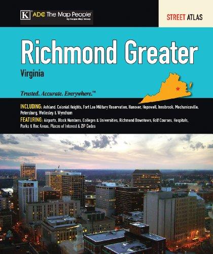 9780875308883: ADC Greater Richmond Virginia Street Atlas (Richmond Virginia Street Map Book)
