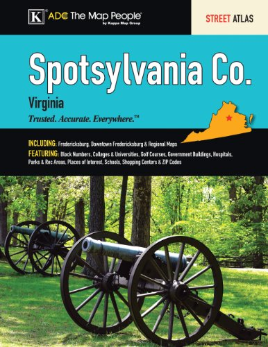 Spotsylvania County VA Atlas (9780875309354) by ADC The Map People