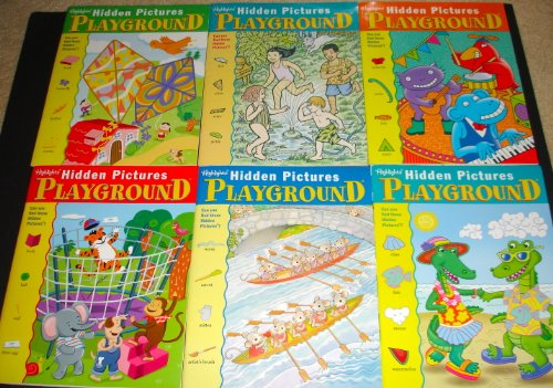 9780875344119: Highlights Hidden Pictures Playground Activity Books, Set of 6. (1)