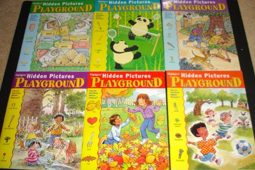 9780875344423: Highlights Hidden Pictures Playground Activity Books, Set of 6.