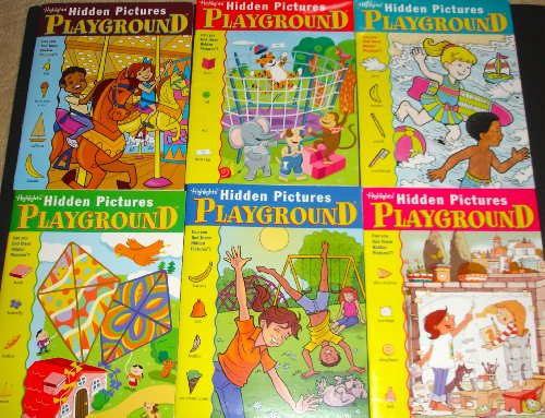 9780875344454: Highlights Hidden Pictures Playground Activity Books, Set of 6.