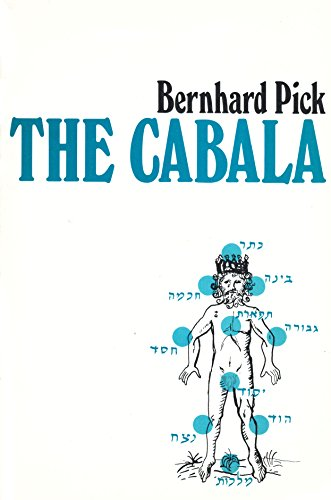 9780875481999: The Cabala: It's Influence on Judaism and Christianity (Open Court paperback)