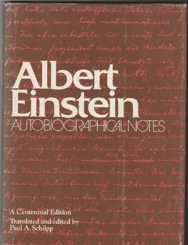 9780875483528: Albert Einstein: Autobiographical Notes (English and German Edition)