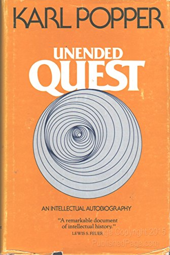 9780875483665: Unended Quest: An Intellectual Autobiography