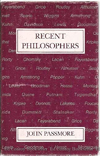 9780875484488: Recent Philosophers