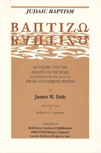 9780875522319: Judaic Baptism: An Inquiry into the Meaning of the Word as Determined by the Usage of Jewish and Patristic Writers