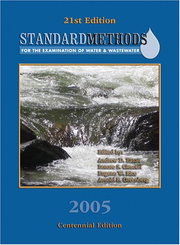 9780875530475: Standard Methods for the Examination of Water & Wastewater: Contennial Edition (Standard Methods for the Examination of Water and Wastewater)