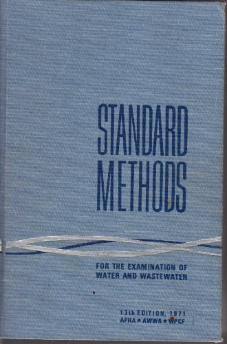 9780875530604: Standard Methods For The Examination Of Water And Wastewater, 13th Edition