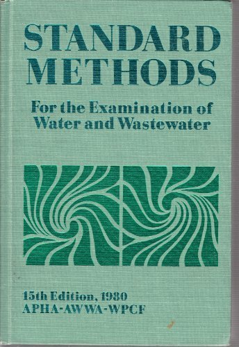 Standard Methods for the Examination of Water: AWWA American Public