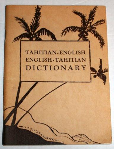 Tahitian-English, English-Tahitian Dictionary: Leonard Clairmont