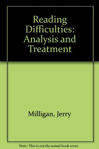 9780875620688: Reading Difficulties: Analysis and Treatment