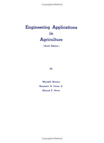 9780875632810: Engineering Applications in Agriculture
