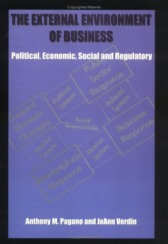 9780875636825: The external environment of business: Political, economic, social and regulatory