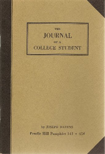 9780875741413: The Journal of a College Student
